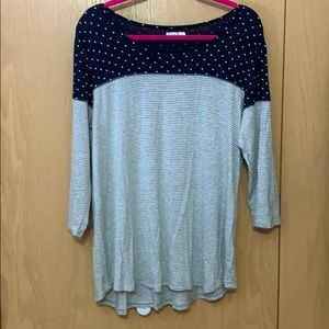 3/4 sleeve Maurices shirt
